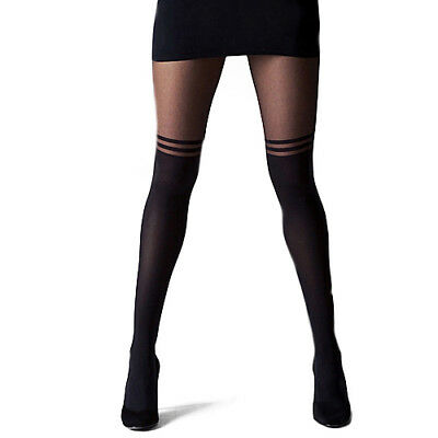 HK- Women Girl Sexy Pantyhose Design Pattern Printed Tattoo Stockings Tights Hea