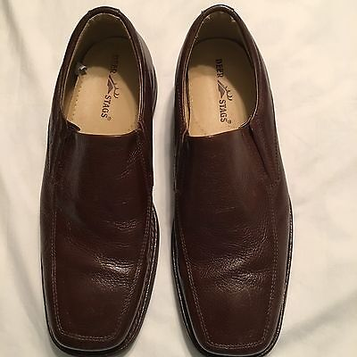 Men/'s Brown DEER STAGS HEWETT Tan Office//Casual//Dress Slip On Loafers Shoes NEW