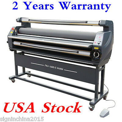 "USA! 110V 63"" Entry Level Full Auto Wide Format Heat Assisted Cold Laminator"