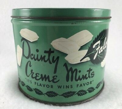 Vintage Falcon Nut And Candy Dainty Creme Mints Tin Can