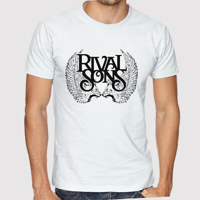 New Rival Sons Rock Band Logo Men's White T-Shirt Size S to 3XL