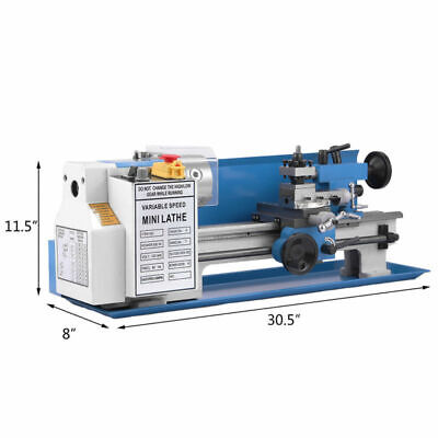 "Lathe Variable 7"" x 14""Precision 550W  Mini Metal Milling Speed 2500 RPM"