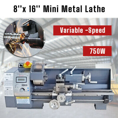 Variable-Speed Metal Mini Lathe Bench Including Digital Panel 750W Woodworking