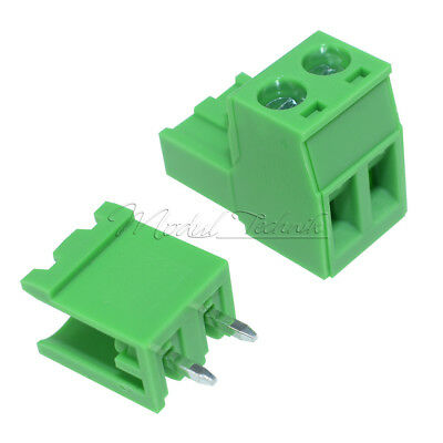 5 x KF2EDGK KF-2P 2PIN Right Angle Plug-in Terminal Connector 5.08mm Pitch