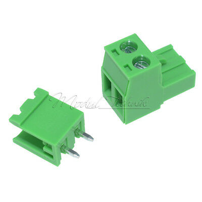 10 x KF2EDGK KF-2P 2PIN Right Angle Plug-in Terminal Connector 5.08mm Pitch