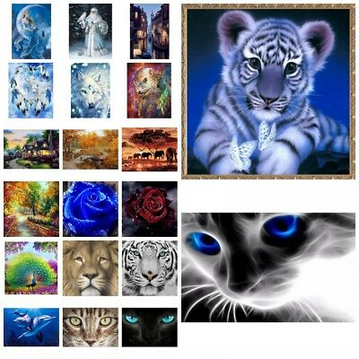 DIY 5D Diamond Painting Animal Embroidery Cross Craft Stitch Kit Decor Craft AU