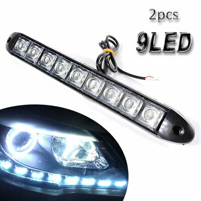 2PCS LED Car Daytime Running Lights DRL Front Fog Daylight Indicator Lamp