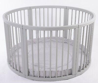 ROUND Playpen ATLAS Quattro with GREY Playmat Dots Brand NEW V. LARGE SALE SALE