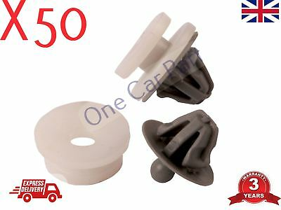 50x RENAULT TRAFIC DOOR CARD PANEL TRIM CLIPS INTERIOR MK2 TRAFFIC Grey
