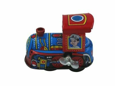 Tiny Locomotive Vintage Wind Up Train Mechanical Clockwork Tin Toy Collectable