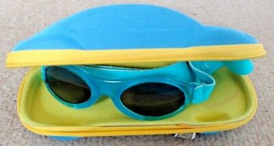 Baby Banz Sunglasses with Car Shaped Case Blue Spring Summer Festival Beach