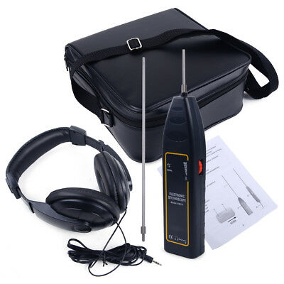 Leak Detector Water Pipe Electronic Stethoscope Earphone Detection Equipment Kit