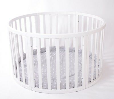 ROUND Playpen APOLLO DUE with GREY Playmat STARS Brand NEW LARGE SALE