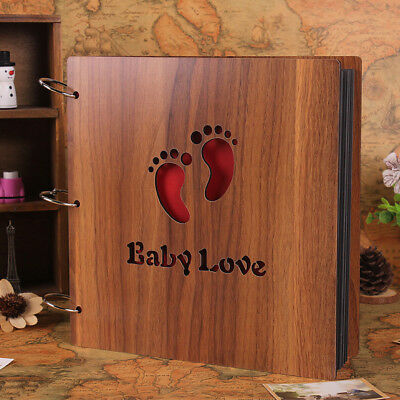 12 inch wooden DIY album handmade paste album baby growth record family