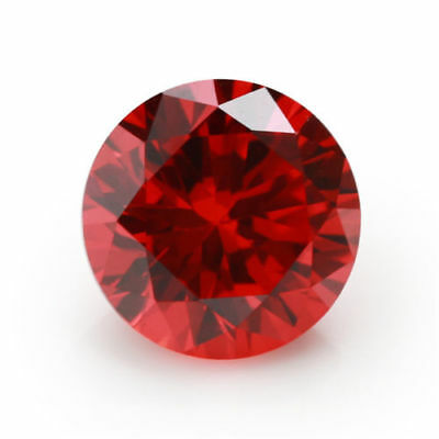 12mm AAAAA Red Sapphire Round Shape Faceted Cut 10.59ct VVS Loose Gemstone