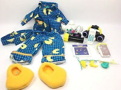 Amazing Ally Doll Interactive Slumber Party Accessory Lot Pajamas W/ Cartridges