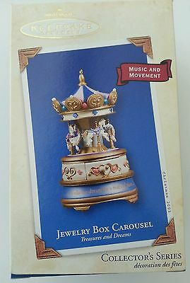 Jewelry Box Carousel 2003 Treasures and Dreams Series #2 Music Movement ~ New