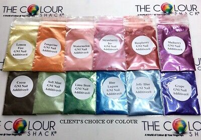 The Colour Shack ® & Gni ® Colour Samples In Grip Seal Bags For All Nail Bases