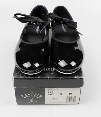 Capezio JR Tyette 625 PAT 9 W Tap Shoes With Box! (B1)