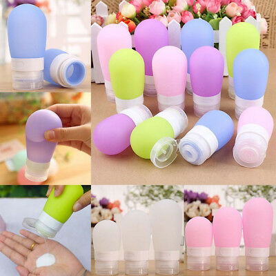 275ff16ce112 PORTABLE SILICONE TRAVEL Bottle Lotion Shampoo Cosmetic Empty Mini  Container US