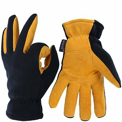Winter Leather Thermal Gloves -20F Heatlok Cold Weather Protect Soft Warm XL