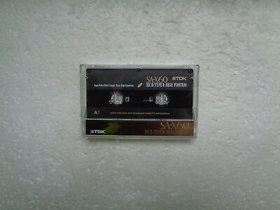 Vintage Audio Cassette TDK SA-X 60 From 1992 - Fantastic Condition !!