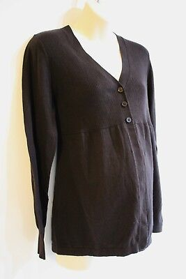 Oh Baby Motherhood Cardigan Sweater Size XL 16 18 Dark Brown Retail $44 NEW