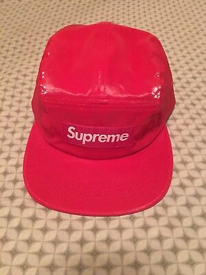 21c5b402 SUPREME SS18 COATED Linen Camp Cap BOX LOGO HAT 5-PANEL CLASSIC ...