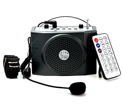 Portable Waistband Voice Booster PA Amplifier 25W For Speaker FM MP3 loudly FAST