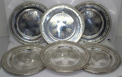"Towle Louis Xiv 5435 Sterling Silver 6 1/2"" Bread Plates Set Of 6 #89057-11  Dbw"