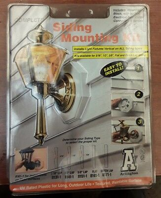 Arlington Siding Mounting Kit With Built In Box 1 2
