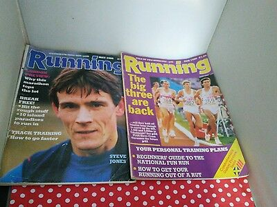 2 Retro Running magazines 1986