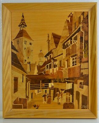 Buchschmid & Gretaux Wood Inlay Marquetry Landsberg Witches Quarters Germany