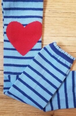 b912d80480087 Nwt Hanna Andersson Blue Striped Heart Ankle Tights 110 120 5 6 7 New!