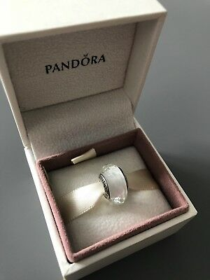 White Faceted Genuine PANDORA murano charm