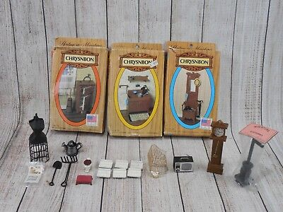 Vintage Chrysnbon Lot Heritage  Miniature Dollhouse Furniture
