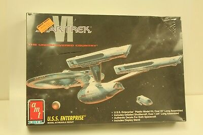 "NEW NIB STAR TREK VI AMT Model Kit ENTERPRISE NCC-1701-A & Shuttle 22"" Long"