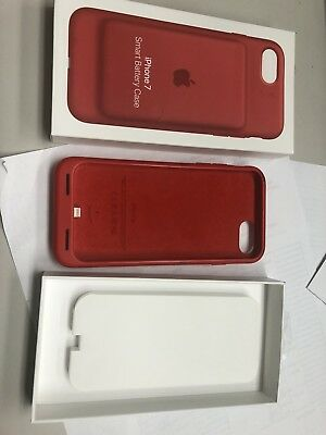Genuine Original Apple Smart Battery Case for iPhone 7 RED COLOR MN022LL/A