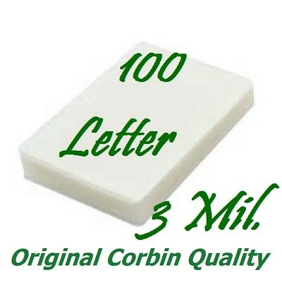 Letter Thermal Laminating Pouches Sheets 100 9 x 11-1/2  3 Mil Scotch Quality