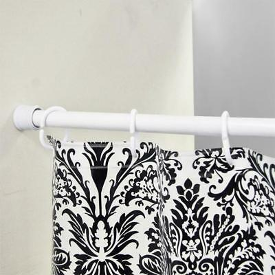 White Telescopic Rail Pole For Shower Ensuite Bathroom Adjustable Rust Resistant