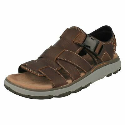 2ac106d96d3 Mens Clarks Unstructured Leather Slingback Summer Sandals Shoes Un Trek Cove