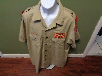 Boy Scouts Shirt Size Adult 2Xl With Patches Rare Nba Miami Heat Scout Night