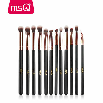 US 12Pcs Eye Makeup Brush Set Blend Shadow Angled Eyeliner Smoke Brushes Tools