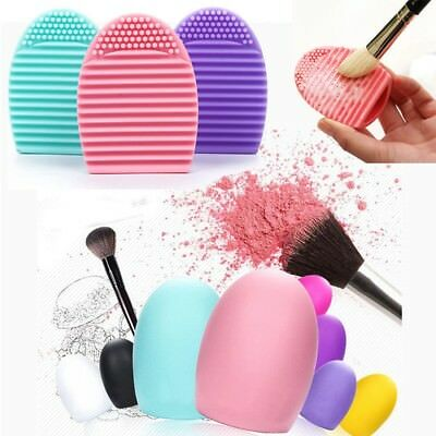 Small Silicone Makeup Brush Cleaner Egg Washing Scrubber Cleaning Mat Hand Tools