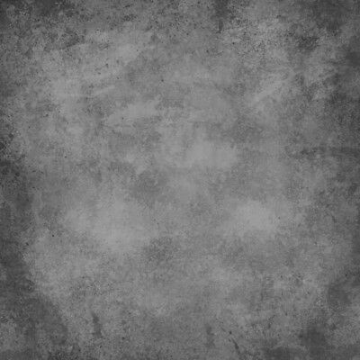 Gradient Dark Grey Wall Photo Backdrop Studio Props Background Seamless 8x8ft