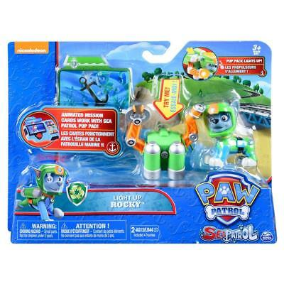 Paw Patrol Sea Patrol Light Up Rocky with Pup Pack and Mission Card