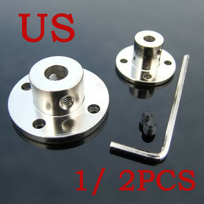 1/2PCS 3-14mm Rigid Flange Coupling Motor Guide Shaft Coupler Motor Connector US