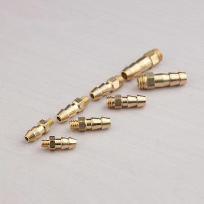 10pcs M3 / M4 / M5 / M6 brass threaded water drain nipples outlets for rc boat