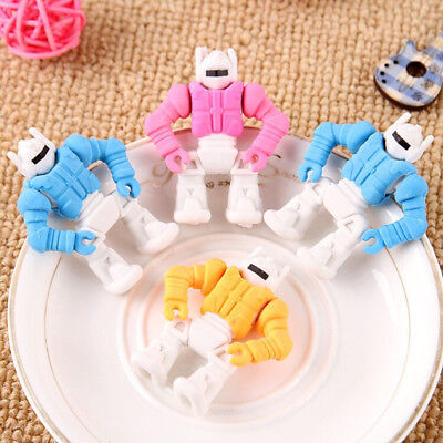 1Pcs Robot Erasers Rubber Eraser Assorted Stationery School Study Gift