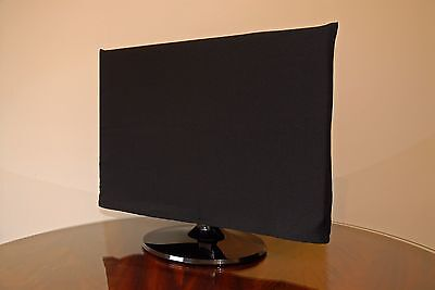 Computer Flat Screen Monitor Dust Cover LED PC TV - 19/21 inch size - BLACK